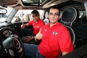 Los oaxaqueño Iyari Sánchez y Arturo Hernández, en el selecto rally.