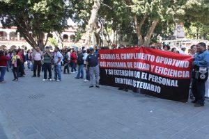 Protesta frente a Palacio de Gobierno