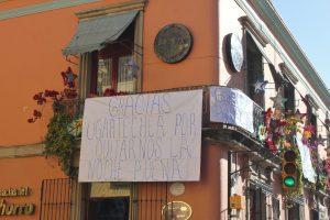 El establecimiento esta ubicado sobre el Andador Turistico de Oaxaca