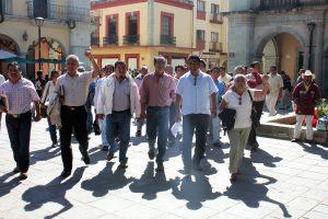 Sección 22 del SNTE en el zócalo de Oaxaca