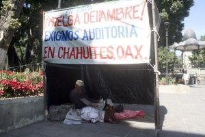 En el zócalo de la ciudad de Oaxaca