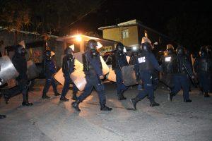 Llegada de la Policía Estatal Preventiva a Ixcotel