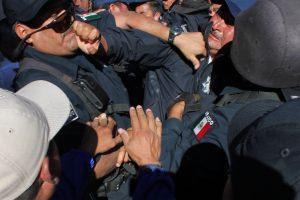 Elementos de Transito y Policías Estatales protagonizaron la revuelta
