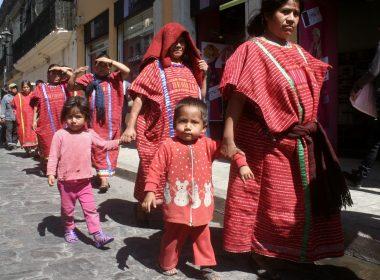 Los niños de San Juan Copala participaran en la caravana del regreso.