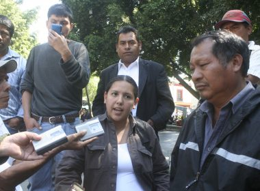 Autoridades de San Juan Mixtepec, Oaxaca.