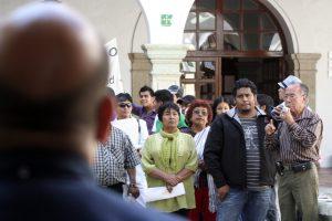 La protesta llego al Palacio Municipal de Oaxaca