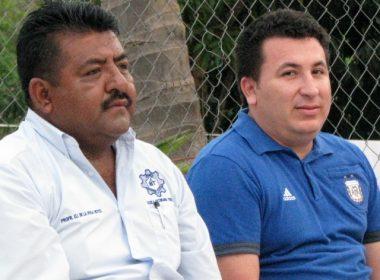 Guillermo Valdez y Eli de la Rosa, entre los invitados de honor en la inauguración.