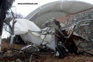 La gran estructura presenta graves daños