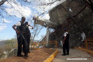 Los daños en el Auditorio Guelaguetza