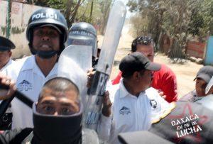 Policías identificados durante la agresión