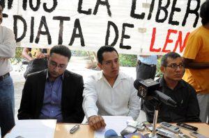 Familiares y abogados de Lenin Ortega Osorio. Fotografía: Alfredo Juárez