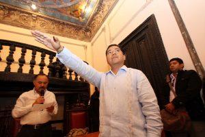 Eduardo Martínez Helmes, en la toma de protesta como Rector de la UABJO foto: Estación