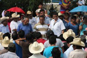 Testimonio de autoridades ante pobladores de Animas Trujano