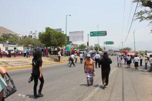Los afectados por el bloqueo en Santa Cruz Xoxocotlán