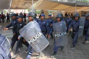La Policía Municipal llego al lugar para evitar cualquier enfrentamiento