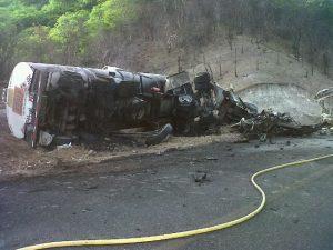 Accidente en la carretera al Istmo de Tehuantepec