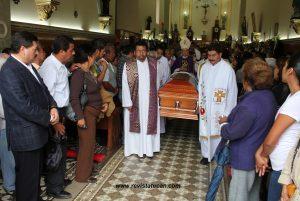 Misa de cuerpo presente en memoria del Presbítero, Daniel Quiroga Dorantes