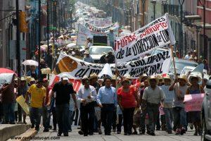 Locatarios en Manifestación