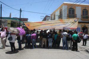 Normalistas sobre Av. Hidalgo