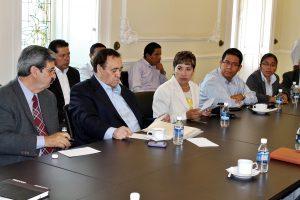 Colegio Oaxaqueño de Abogados en Materia Agraria, A.C en la firma del convenio de cooperación y colaboración con la SEGEGO