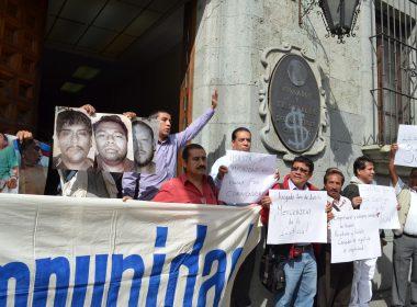 Said Hernández acompañado por las diversas asociaciones periodísticas