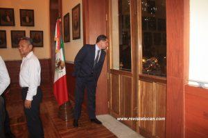 Gabino Cué Monteagudo en Palacio de Gobierno del Estado de Oaxaca