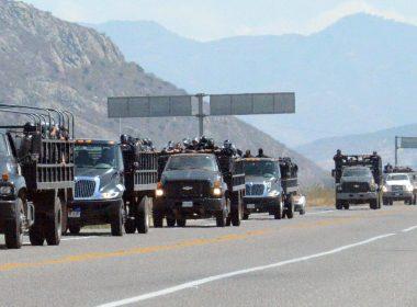 Convoy de la Policía Estatal Preventiva