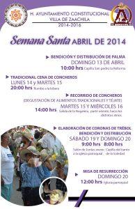 Programa de la Semana Santa en Zaachila