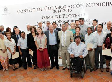 Javier Villacaña tomó protesta a los 22 Consejos Consultivos Municipales