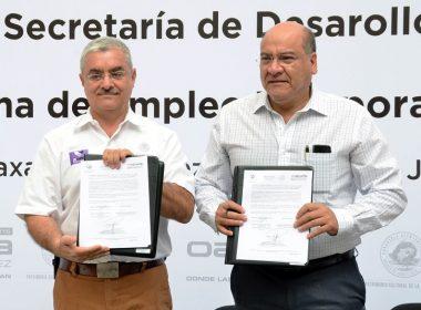 Firma de convenio entre el Municipio de Oaxaca y SEDESOL