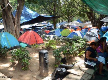 Platón magisterial en el Zócalo de Oaxaca