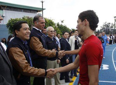 Gabino Cué y Eduardo Martínez Helmes