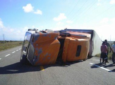 8 camiones afectados