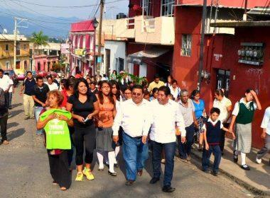 Miguel Ángel Morales Amaya en campaña por la Diputación Federal