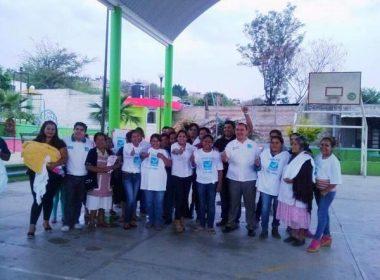 Sofía Valdivia en campaña por la Diputación Federal