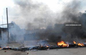 Barriacadas en las regiones de Oaxaca