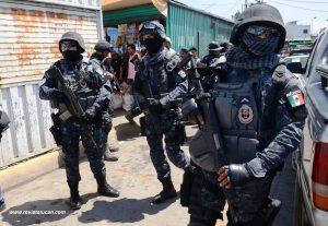 Operativo federal en la Central de Abasto de Oaxaca