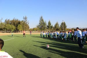 Raciel Vale, inaugura el micro estadio de Zaachila