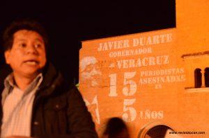 Protesta contra Javier Duarte en Oaxaca