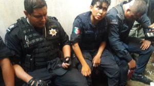5 lesionados, entre ellos, una uniformada de Santa Lucía
