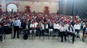 En Tlaxiaco, entusiasta participación durante la presentación de la Película.