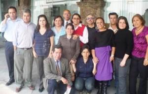 FUNDADORES de la CDP. Omar Rául entre Perla Gómez y Eréndira Cruzvillegas
