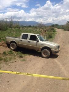 Lugar de la balacera en Ocotlán