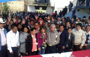 Mafud con las bases y militancia del PRI en las regiones de Oaxaca