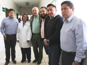 Autoridades del IMSS Oaxaca en el Hospital no. 8 en Huajuapan de León