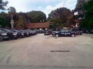 Estacionamiento del hotel Misión de los Ángeles