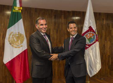 Encuentro entre Gabino Cué y Alejandro Murat