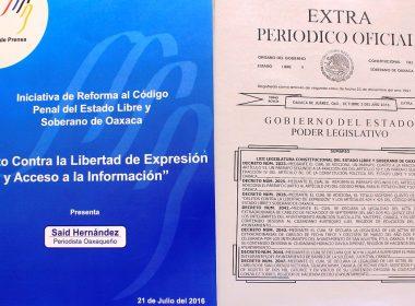 Reforma al Código Penal de Oaxaca