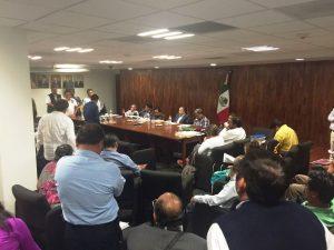 Sección 22 e integrantes del Gobierndo de Oaxaca