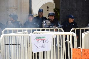 Accesos al Palacio Municipal de Oaxaca de Juárez